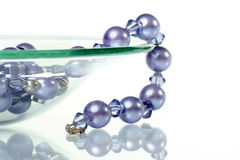 Purple Beaded Necklace Stock Photo