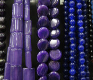Purple Beaded Necklaces Royalty Free Stock Photography