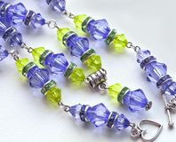 Purple beads Royalty Free Stock Photography