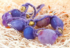 Purple beads. Jewelry Royalty Free Stock Photography