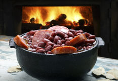 Purple bean feijoada Royalty Free Stock Photography