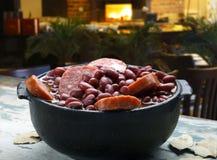 Purple bean feijoada Stock Photo