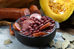 Purple bean feijoada Stock Images