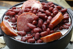 Purple bean feijoada Royalty Free Stock Images