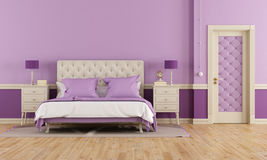 Purple bedroom Royalty Free Stock Images