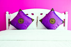 Purple Bedroom in a modern house Stock Photo