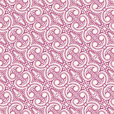 Purple and beige floral pattern with swirls Stock Image