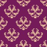 Purple and beige seamless floral pattern Royalty Free Stock Images