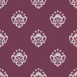 Purple and beige seamless floral pattern Stock Photography
