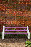 Purple bench Royalty Free Stock Images