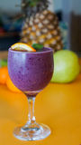 Purple Berry Smoothie Drink Royalty Free Stock Photo