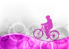 Purple bicycle Royalty Free Stock Image