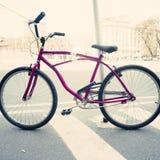 Purple Bicycle Stock Photos