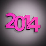 Purple 2014. Big purple digits of new year 2014 Stock Photos