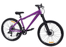 Purple bike Stock Photography