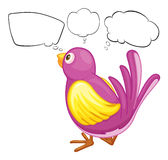 A purple bird with empty callouts Royalty Free Stock Photo