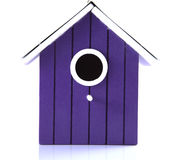 Purple bird house Royalty Free Stock Image