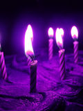 Purple birthday. Purple aura birthday candle theme Stock Image