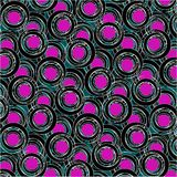 Purple and black circle pattern Stock Images