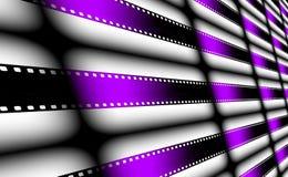 Purple and black Film strip Stock Photo