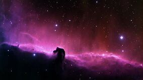 Purple and Black Galaxy Illustration Royalty Free Stock Image