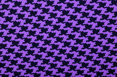 Purple and black houndstooth pattern. Royalty Free Stock Photography