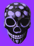 Purple and black mexican ornament skull vectors Royalty Free Stock Image