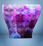 Purple black mosaic template Royalty Free Stock Image