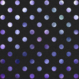 Purple Black Polka Dot Pattern Digital Paper Stock Photography