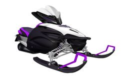 Purple Black Snowmobile Royalty Free Stock Image