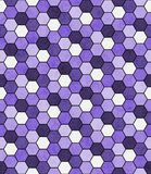 Purple, Black and White Hexagon Mosaic Abstract Geometric Design Royalty Free Stock Photography