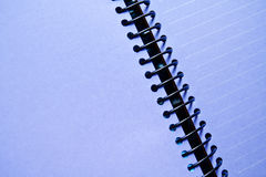 Purple blank notebook. Purple blank of lined notebook Royalty Free Stock Images