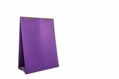 Purple blank paper desk spiral calendar. Royalty Free Stock Images