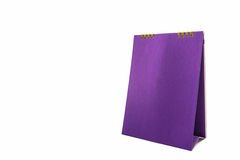 Purple blank paper desk spiral calendar. Royalty Free Stock Photography