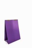 Purple blank paper desk spiral calendar. Royalty Free Stock Photo