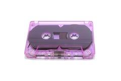 Purple blank tape cassette Stock Photos