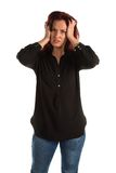 Purple blouse Royalty Free Stock Images