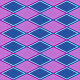 Purple and blue abstract pattern with rhombus Stock Photography