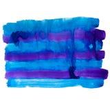 Purple blue band watercolors spot blotch Royalty Free Stock Photography