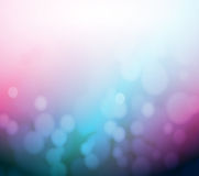 Purple and blue bokeh abstract light background. Illustration design Stock Photography