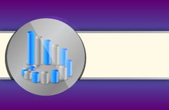 Purple and blue chart business Royalty Free Stock Photos