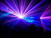 Purple and blue club lasers Stock Images