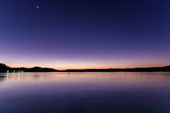 Purple and Blue - Daybreak at the Waterfront. Taken at Woy Woy, NSW, Australia Stock Photos