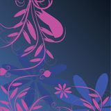 Purple and blue decorative design Stock Photography
