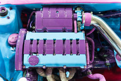 Purple and blue engine Stock Images