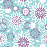 Purple and blue floral abstract seamless pattern background Royalty Free Stock Images