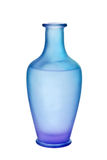 Purple and Blue Frosted Glass Vase Isolated Stock Photography