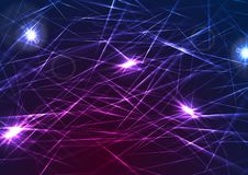 Colorful glowing laser beams lines abstract background. Purple and blue glowing laser beams lines abstract background. Vector design royalty free illustration