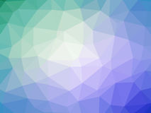 Purple blue green abstract gradient polygon shaped background.  Stock Images