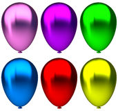 Purple,blue, green, yellow, pink and red birthday Stock Images